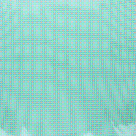 Petit Pan coated cotton fabric - azure Django x 10cm