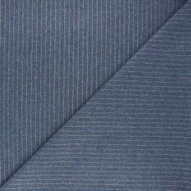 Tissu jeans fluide Loctudy - bleu foncé x 10cm