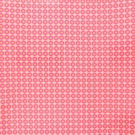 Tissu coton enduit Petit Pan Mikko - rose x 10cm
