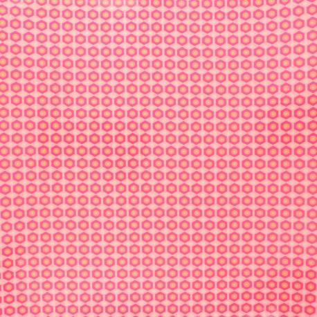 Petit Pan coated cotton fabric - pink Mikko x 10cm
