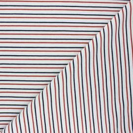 Tissu maille côtelé Sauzon - blanc x 10cm