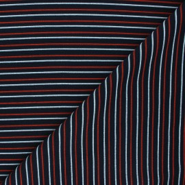 Ribbed knit fabric - night blue Sauzon x 10cm