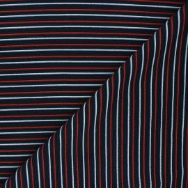 Tissu maille côtelé Sauzon - bleu nuit x 10cm