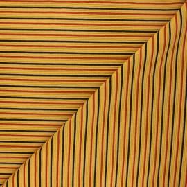 Tissu maille côtelé Sauzon - miel x 10cm