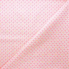 Tissu coton Petit Pan Helium - rose clair x 10cm