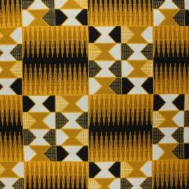 Tissu Wax à paillettes Konongo - noirx 10cm