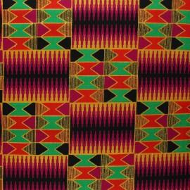 Tissu Wax à paillettes Konongo - violet x 10cm