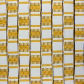 Glittery Wax print fabric - ochre Digya x 10cm