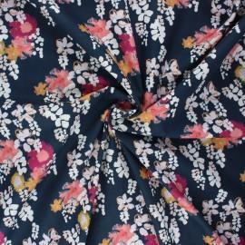 Tissu coton Frou-Frou Glycine - bleu nuit x 10cm
