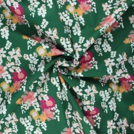 Tissu coton Frou-Frou Glycine - vert foncé x 10cm