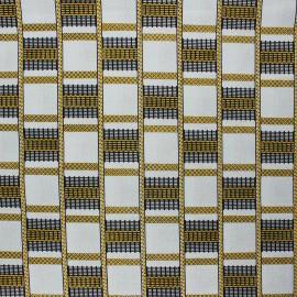 Glittery Wax print fabric - black Digya x 10cm