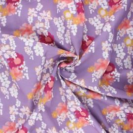 Tissu coton Frou-Frou Glycine - parme x 10cm
