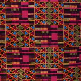 Glittery Wax print fabric - pink Twifo x 10cm