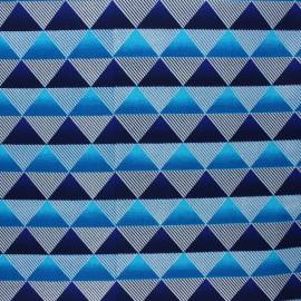 Tissu Wax à paillettes Obuasi - bleu x 10cm