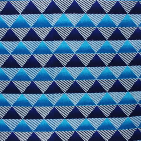 Glittery Wax print fabric - blue Obuasi x 10cm