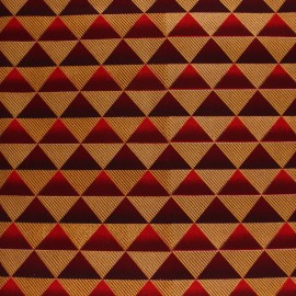 Glittery Wax print fabric - red Obuasi x 10cm