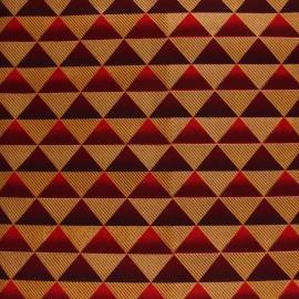 Tissu Wax à paillettes Obuasi - rouge x 10cm