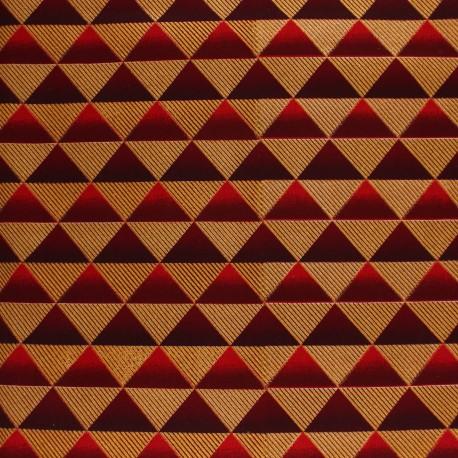 Glittery Wax print fabric - red Obuasi x 10cm