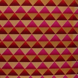 Glittery Wax print fabric - pink Obuasi x 10cm