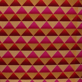 Tissu Wax à paillettes Obuasi - rose x 10cm