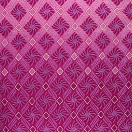 Glittery Wax print fabric - pink Sunyani x 10cm