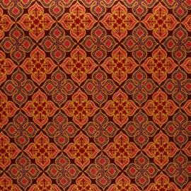 Tissu Wax à paillettes Bawku - rouge x 10cm