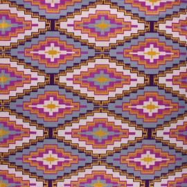 Glittery Wax print fabric - purple Manduri x 10cm