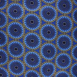 Glittery Wax print fabric - blue Aworo x 10cm