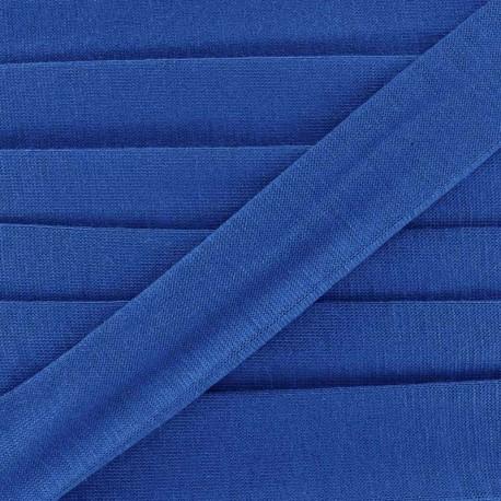 Biais jersey coton uni 20mm - bleu navy x 1m