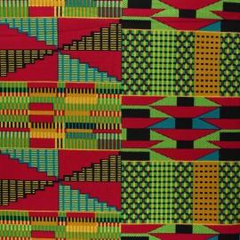 Tissu Wax à paillettes Kasoa - fuchsia x 10cm