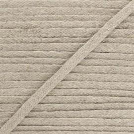 Flat braided trimming - linen x 1m
