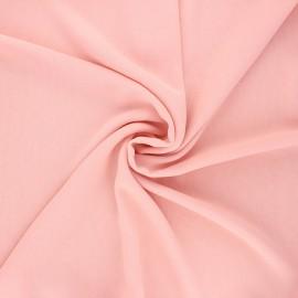 Tissu mousseline crêpe - rose pâle x 50cm