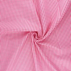 Tissu popeline de coton vichy Suzy - fuchsia x 10cm