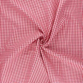 Tissu popeline de coton vichy Suzy - rouge x 10cm