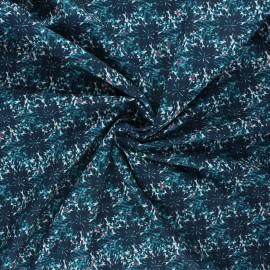 Tissu coton Frou-Frou Dahlia - bleu paon x 10cm