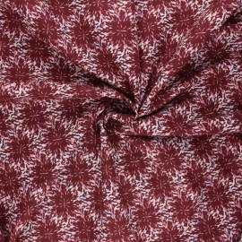 Tissu coton Frou-Frou Dahlia - acajou x 10cm