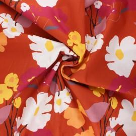 Tissu coton Frou-Frou Coquelicot - rouille x 10cm