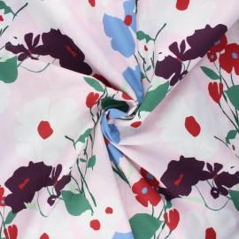 Tissu coton Frou-Frou Coquelicot - rose clair x 10cm