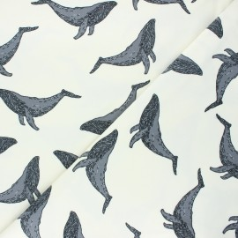Bloome Copenhagen cotton jersey fabric - raw Whale x 10 cm