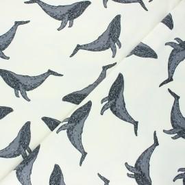Tissu jersey Bloome Copenhagen Whale - écru x 10cm