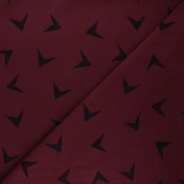 Tissu sweat léger Bloome Copenhagen Arrows - bordeaux x 10cm