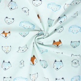 AGF poplin cotton fabric - Fusion little forester - Furries forester x 10cm