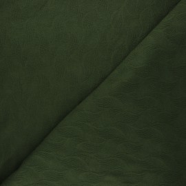 Mind the Maker Jersey jacquard fabric - dark green Leaf x 10 cm