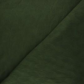 Tissu Mind the Maker jersey jacquard Leaf - vert foncé x 10 cm