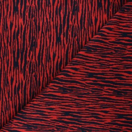 Mind the Maker Jersey jacquard fabric - red Bark x 10 cm