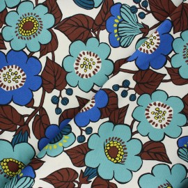 Kokka cotton canvas fabric - raw Jambo x 10 cm