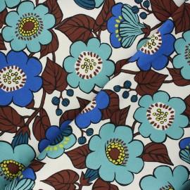 Tissu toile de coton Kokka Jambo - écru x 10 cm