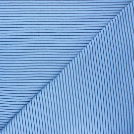 Cloud 9 Jersey fabric Knits - light blue Little stripes x 10cm