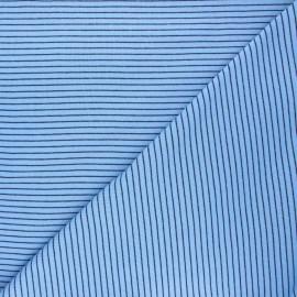 Tissu jersey Cloud 9 Knits Little stripes - bleu clair x 10cm