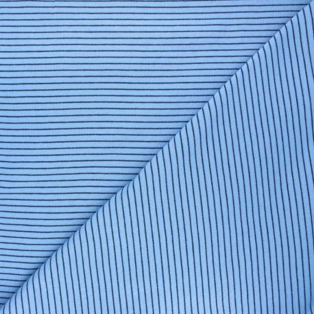 Cloud 9 Jersey fabric Knits - light blue Little stripes x 10cm